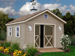 Best Barns South Dakota 12 x 12 Vinyl Prep Wood Shed